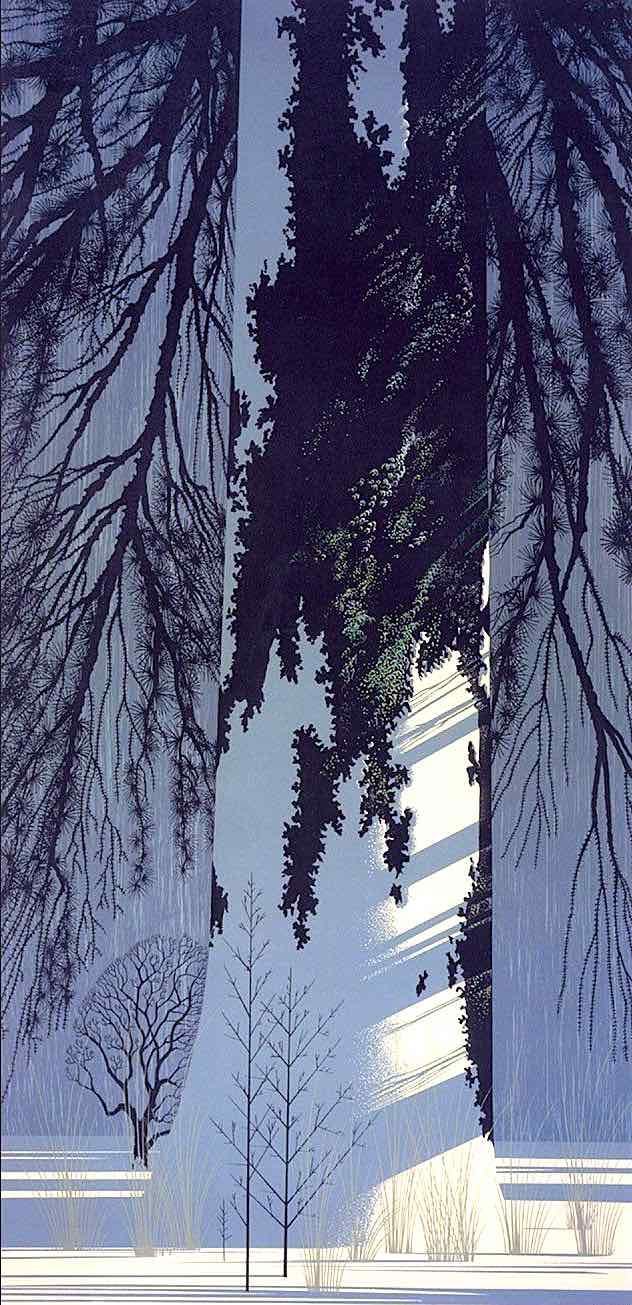 Eyvind Earle, sleeping tree, giant tree