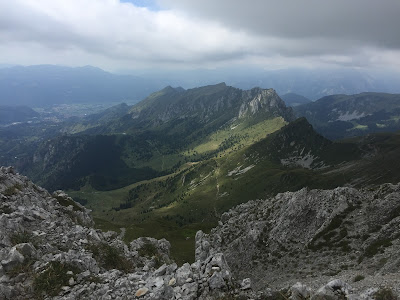 View from Passo di Pozzera toward Malga della Presolana.