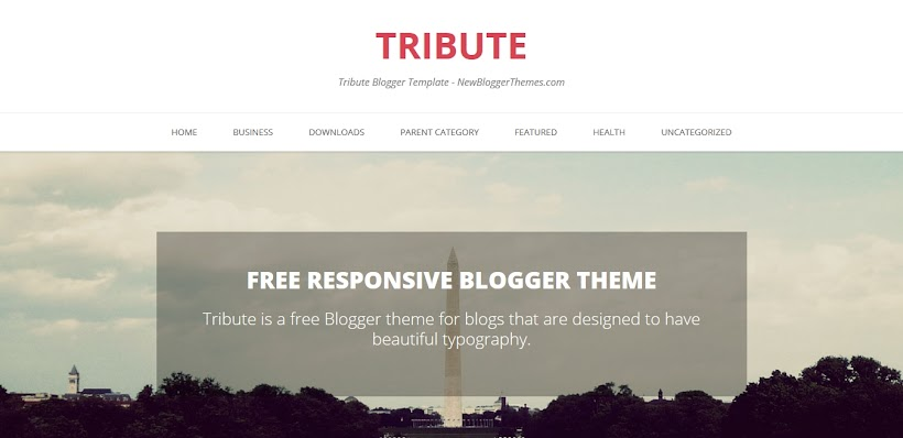Tribute Free Blogger Template