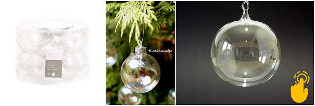 durchsichtige weihnachtskugeln f r den christbaum oder zum bef llen. Black Bedroom Furniture Sets. Home Design Ideas