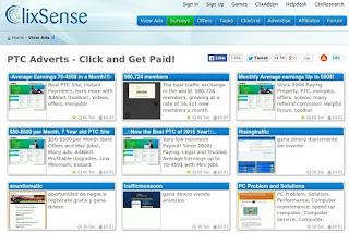 Ganar dinero PTC - Clixsense