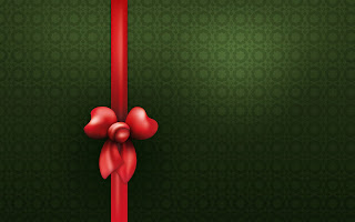 Christmas gift green background image template PSD