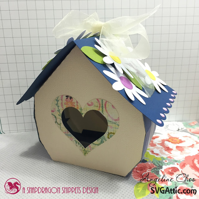 ScrappyScrappy: Flowery Heart Cottage #scrappyscrappy #svgattic #giftbox #svg