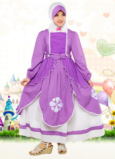 Model Baju Gamis Anak Frozen Terbaru 2016