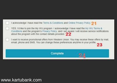 Gambar 4 Cara Daftar Western Union Online di Semua Negara