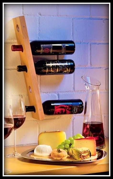 Suporte de vinho na parede - DIY