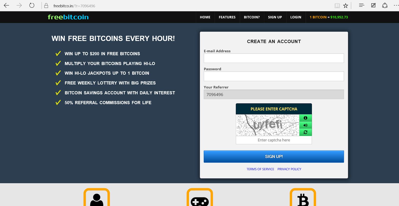 Freebitcoin - CryptoWorld