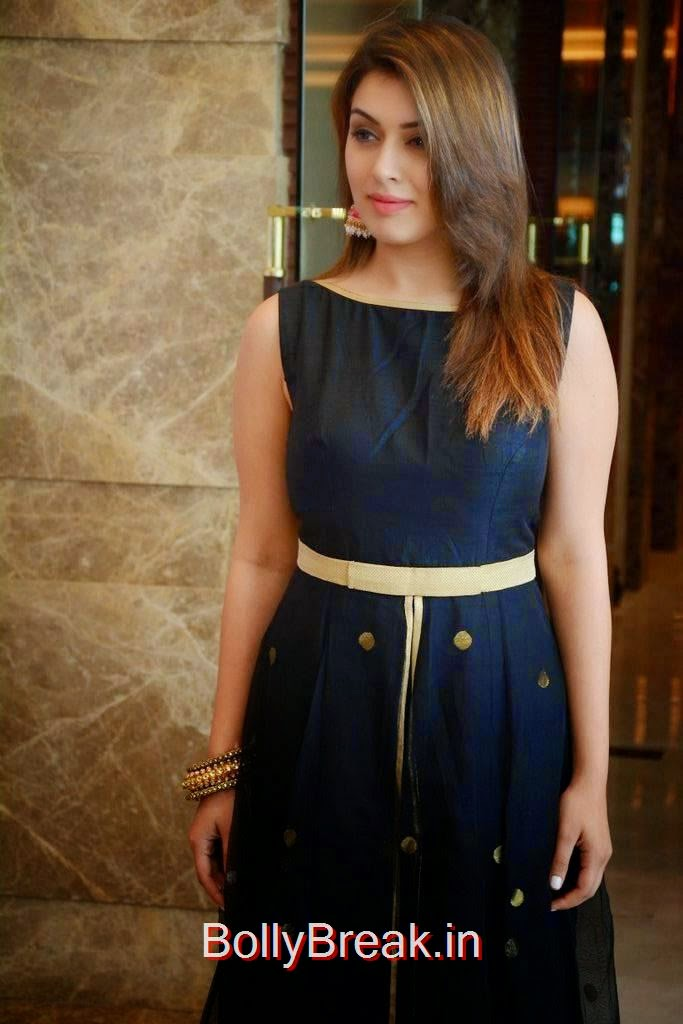 Hansika Unseen Stills, Hansika Latest Hot Pics In Black Dress from Emerald Flats Launch Event