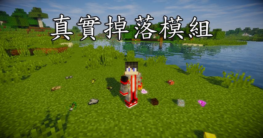 RealisticItemDrops mod 真實掉落模組 - Minecraft 我的世界當個創世神各種介紹