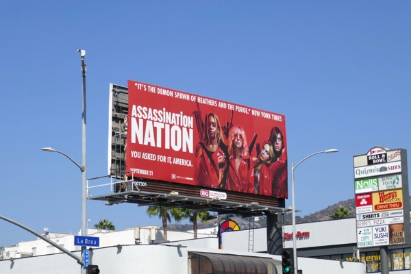Assassination Nation film billboard
