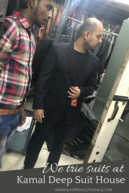 What I did this weekend? Tried and checked fittings of suits and blazers at Kamal Deep Suit House at Lajoat Nagar-Iv, Central Market
