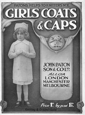 1910s vintage knitting pattern; Patons; Girls' coats & caps