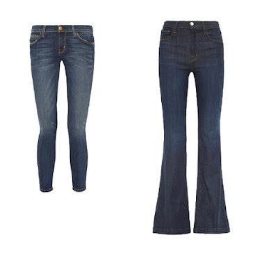 Узкие и расклешенные джинсы