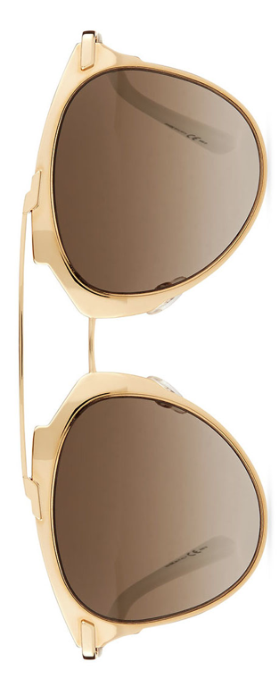 Dior  Mirrored Two-Tone Aviator Sunglasses Rose Golden