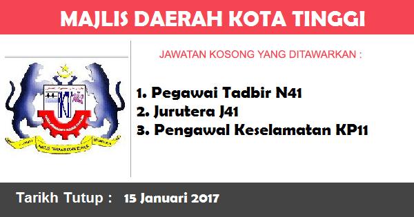 Jawatan Kosong di Majlis Daerah Kota Tinggi