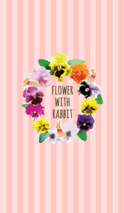 -FLOWER WITH RABBIT-