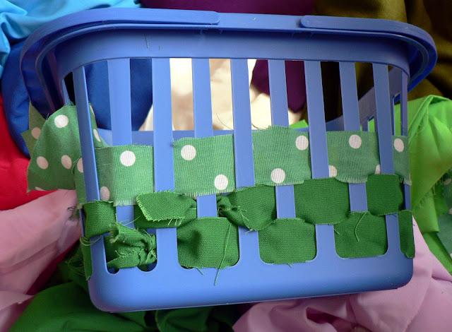 No Sew Scrap Fabric Basket craft