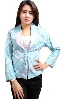 Model Baju Batik Atasan Kerja Wanita