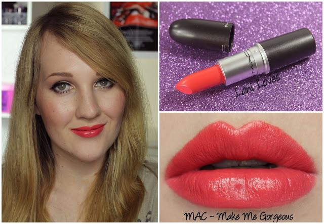 MAC Make Me Gorgeous lipstick swatch