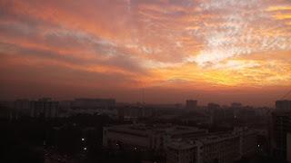Orange sky picture
