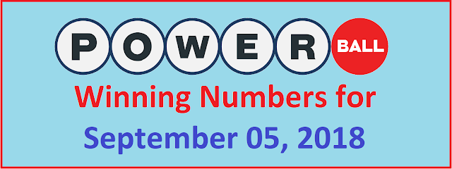PowerBall Winning Numbers for Wednesday, 05 September 2018