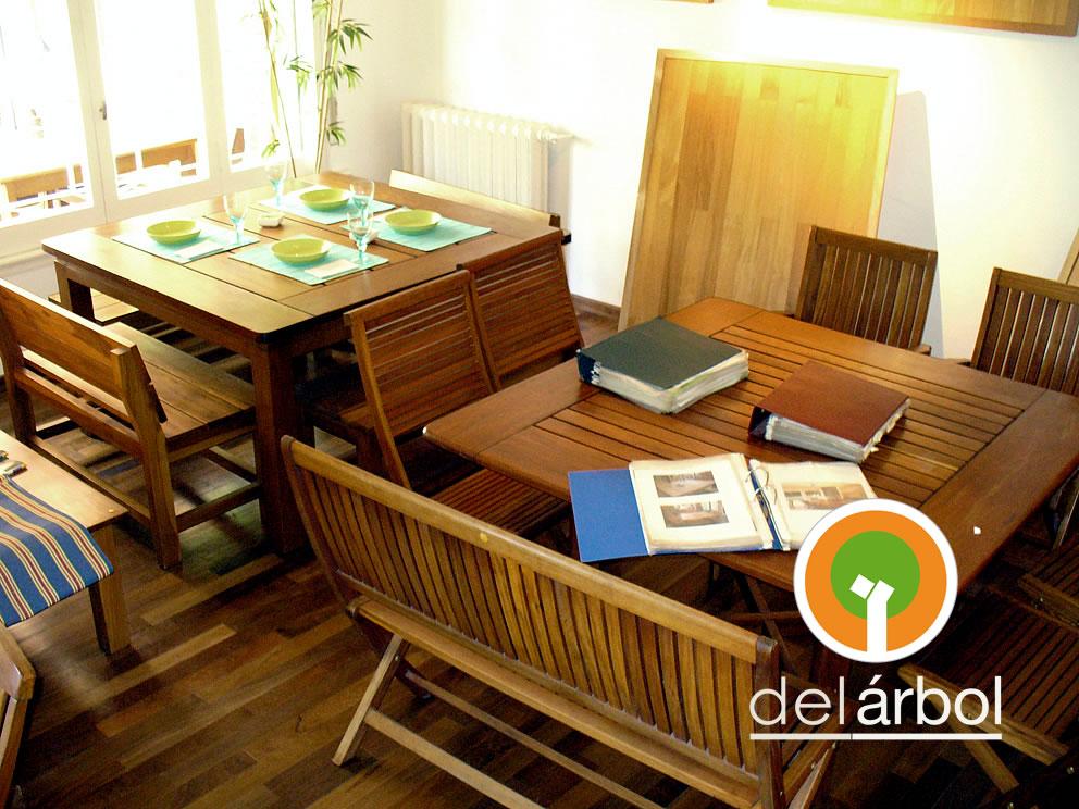 Del arbol f brica de muebles de madera mesa longo de for Fabrica de muebles de madera