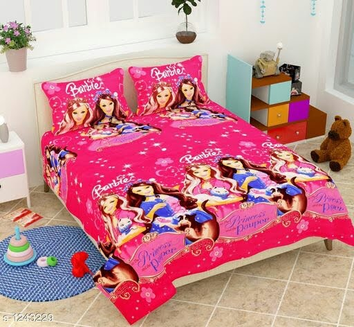 Poly Cotton Printed Double Bedsheet