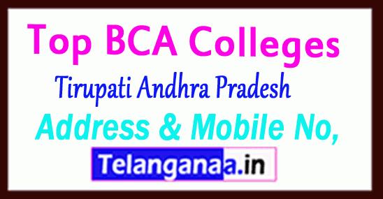 Top BCA Colleges in Tirupati Andhra Pradesh