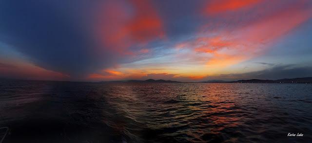 Ηλιοβασίλεμα στον Σαρωνικό κόλπο -Κώστας Λαδάς