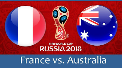Live Streaming France vs Australia Piala Dunia 16.6.2018