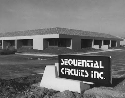 La factoría de la empresa estadounidense de instrumentos electrónicos Sequential Circuits radicada en San José, California a finales de los años 70.