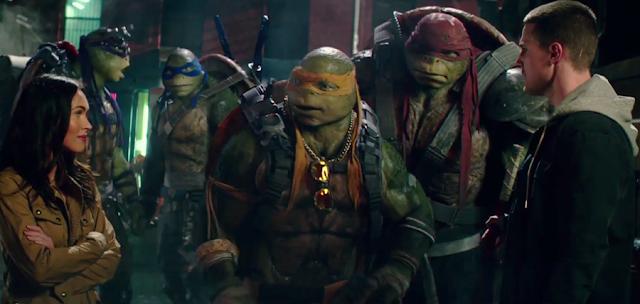 Megan Fox, Stephen Amell și Donatello, Rafael, Leonardo şi Michelangelo