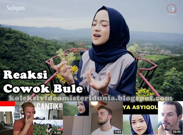 reaksi bule ya asyiqol musthofa nissa sabyan video reaction