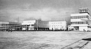 Milan's Linate airport as it appeared when commercial operations began in 1930s