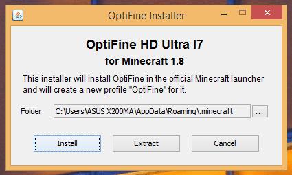 Optifine Installer