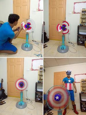 Disfraz de el capitan america cosplay