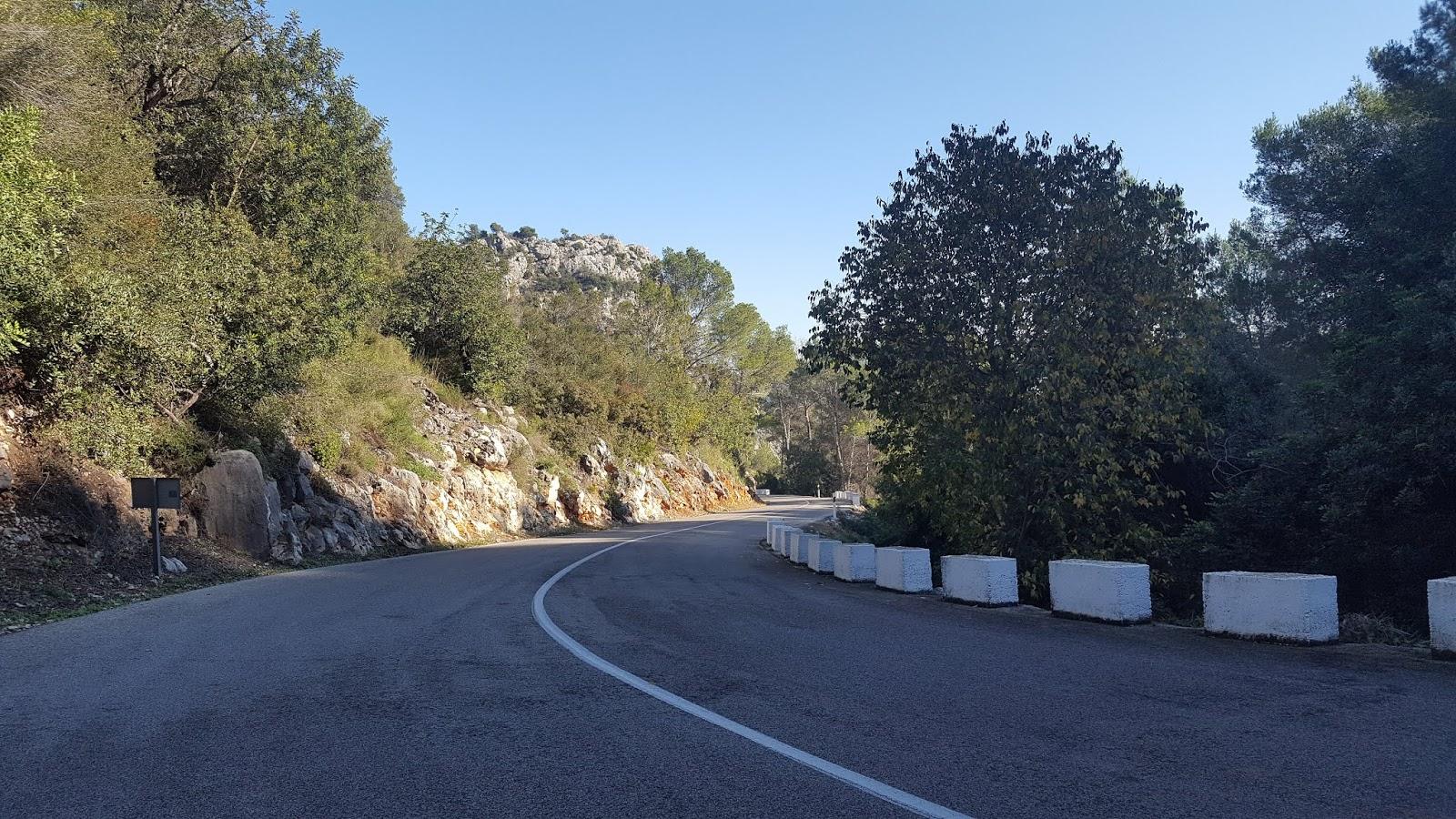 Steepest section of Vall de Ebo climb, Alicante