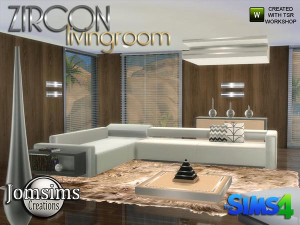 My Sims 4 Blog Zircon Modern Living Room By Jomsims