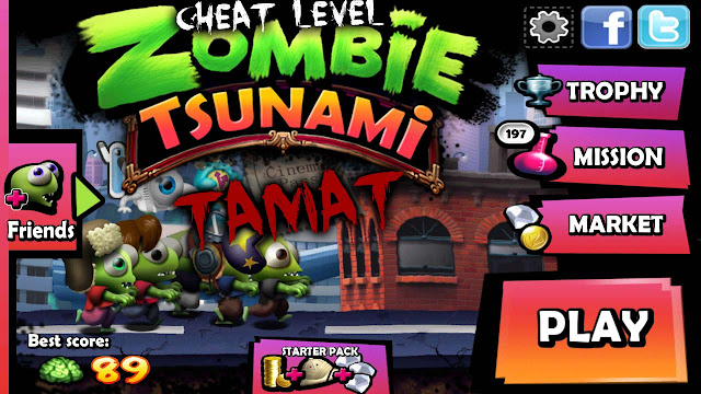 cheat level zombie tsunami tamat