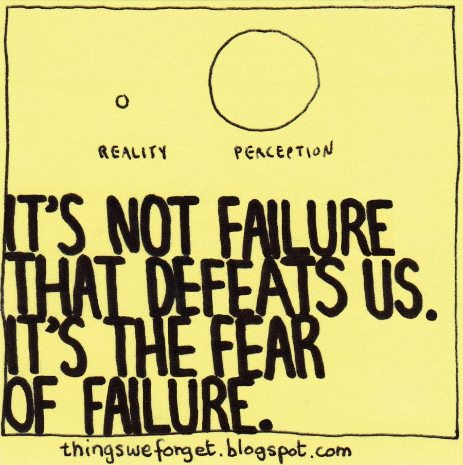 Inspirational Quotes Fear Of Failure: Dr.Malpani's Blog: How The Fear Of Failure Hurts IVF Patients
