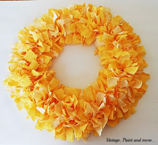 Vintage, Paint and more... diy rag wreath tutorial