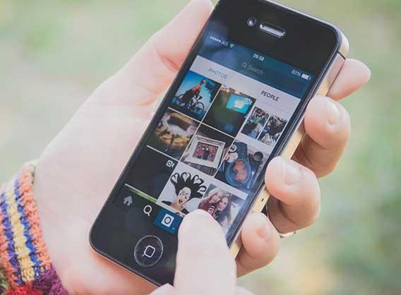Instagram app on iphone