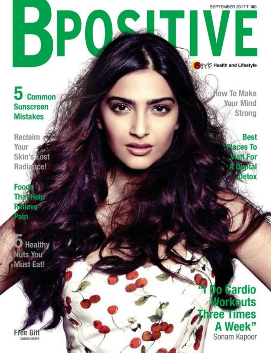 Sonam Kapoor On The Cover of BPositive Magazine India September 2017