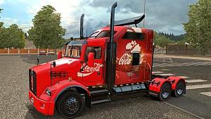 Coca-Cola skin for Kenworth T800 truck
