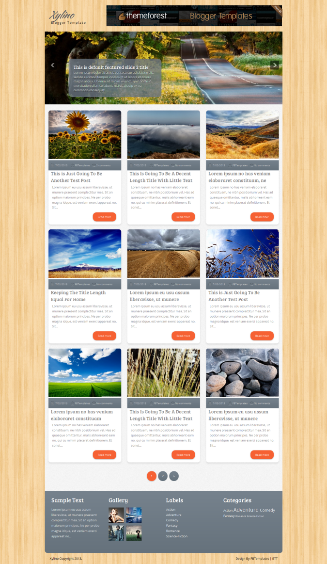 Xylino Blogger Template