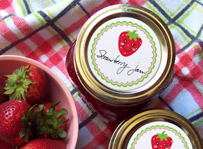 strawberry canning label