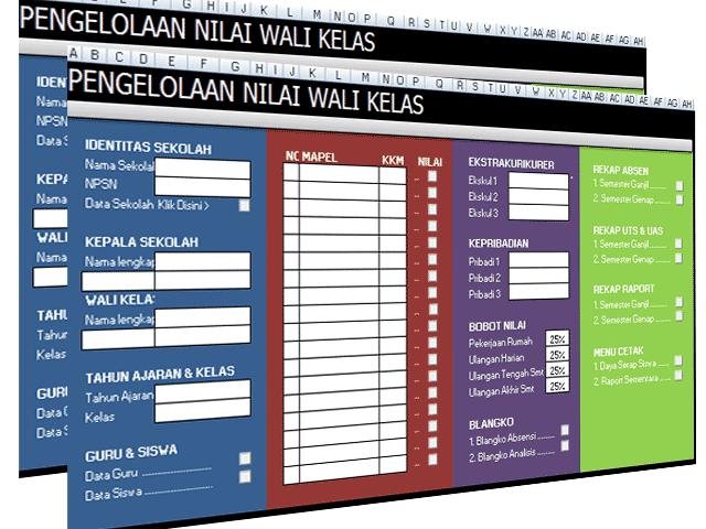 Microsoft Excel - Aplikasi Pengelolaan Nilai Siswa Untuk Guru dan Wali kelas