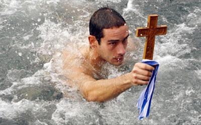 θεοφανεια, πιασιμο σταυρου