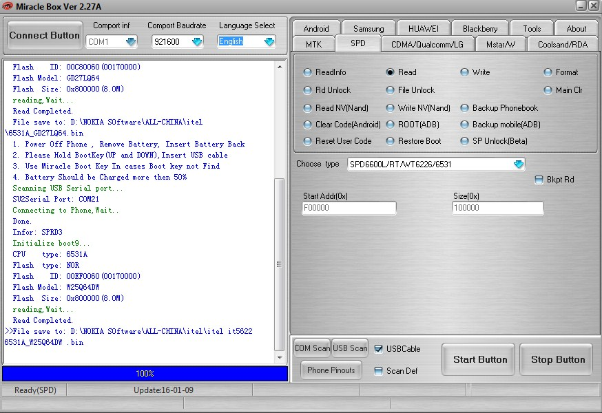 Download Itel IT5622 new Firmware (Flash File) Flash Size: 0x800000