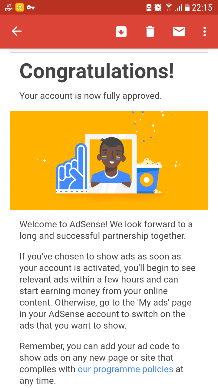 Experience : Full Approved dari Google Adsense
